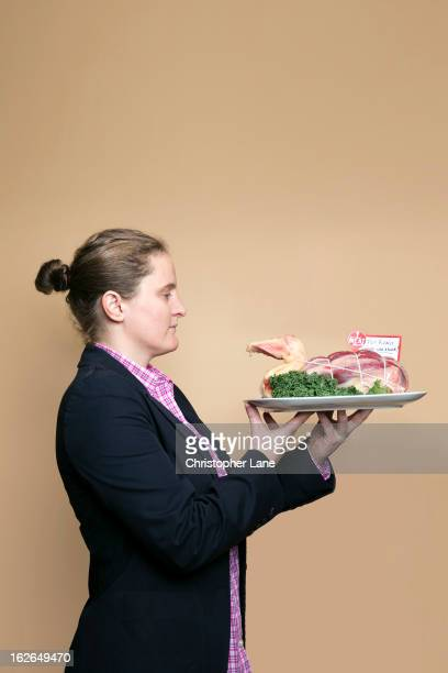Chef April Bloomfield is photographed for Financial Times on November 13 2012 at The Meat Hook in Brooklyn New York