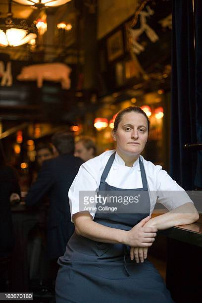 Chef April Bloomfield is photographed for the Independent on October 18 2012 in New York City