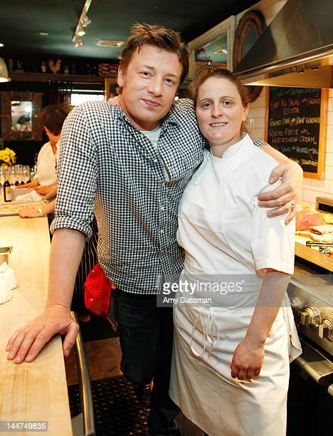 Chef April Bloomfield joins Chef Jamie Oliver to celebrate the First Annual Food Revolution Day sponsored by JUSTIN Vineyards Winery at The Spotted...