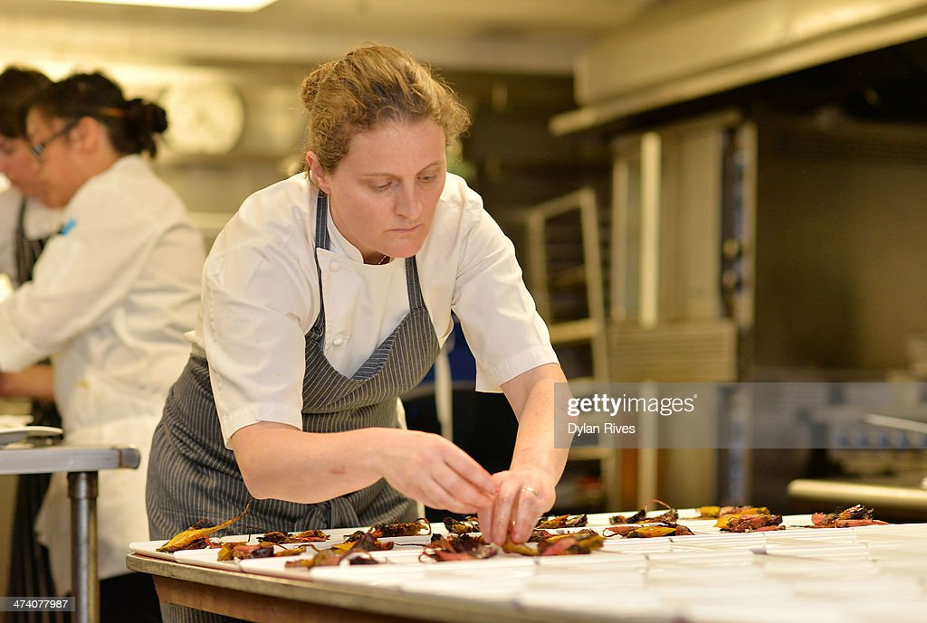 The Forge Welcomes Chef April Bloomfield In Celebration Of The Spotted Pig's 10th Anniversary Part of The New York Times Dinner Series - Food Network South Beach Wine & Food Festival : News Photo