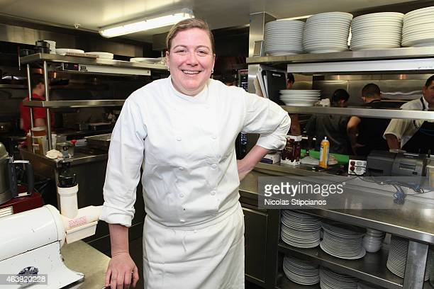 Chef Ashley Christensen attends the Retro Feast Dinner hosted by Ben Ford Ashley Christensen and Jonathan Lane as a part of The New York Times Dinner...