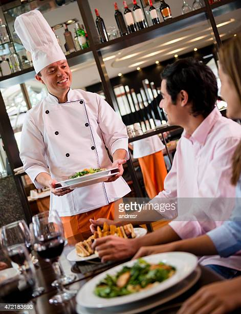 Chef at a restaurant