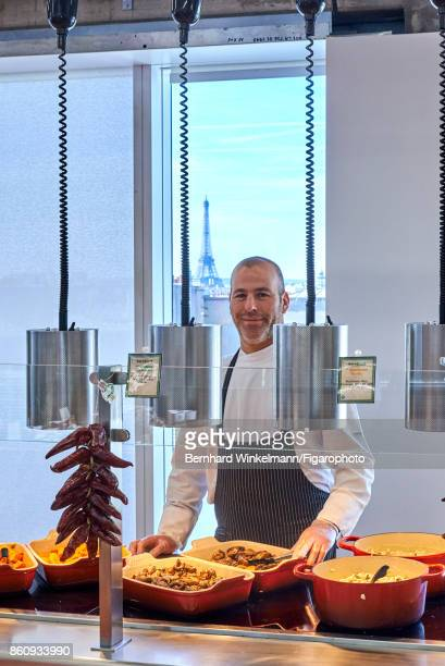 Chef at Facebook France Pinhas Tevet is photographed for Madame Figaro on September 21 2017 at the Facebook France and Southern Europe offices in...