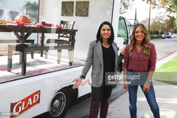 Chef Ayesha Curry and Lifestyle Expert Sabrina Soto attend 'Friendsgiving For No Kid Hungry' Thanksgiving event on November 17 2017 in Studio City...