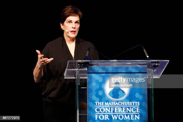 Chef Barbara Lynch speaks the Opening Night of the Massachusetts Conference for Women at the Boston Convention Center on December 6 2017 in Boston...