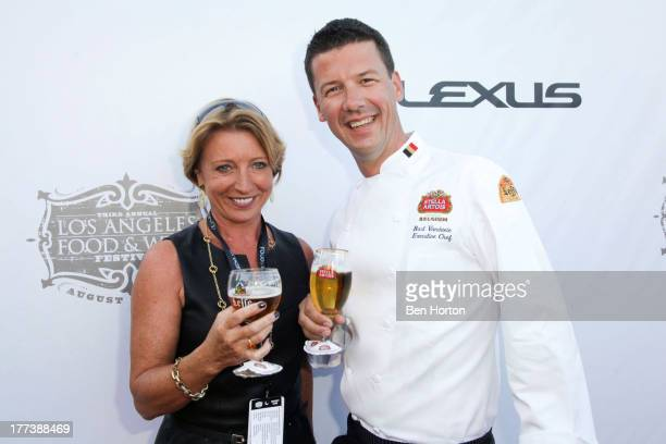 Chef Bart Vandaele and guest attend the Festa Italiana with Giada de Laurentiis opening night celebration of the third annual Los Angeles Food Wine...