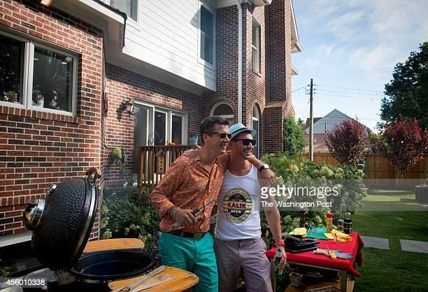 Chef Bart Vandaele is photographed with Matthew Herbert in Alexandria Virginia on September 06 2014