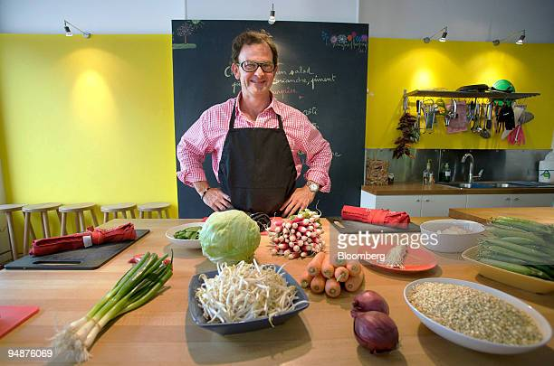 Chef Bertrand Duchamp poses in his fulltime cooking workshop Atelier de Cuisine in Luxembourg on Friday June 13 2008 Luxembourg employers are sending...