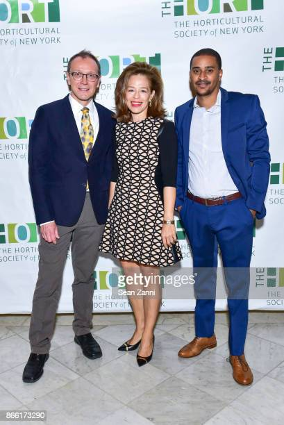 Chef Bill Telepan Alatia Bradley Bach and Chef Joseph JJ Johnson attend Table The Horticultural Society of New York's Annual Fall Luncheon Putting...