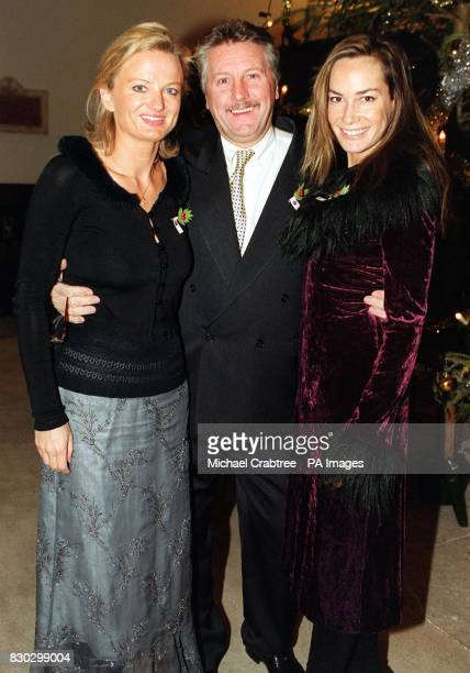 Chef Brian Turner flanked by socialite Tara Palmer Tomkinson and TV presenter Alice Beer as they arrive at St Luke's Church in Chelsea, for a Charity...