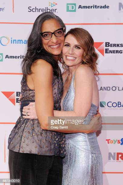 Chef Carla Hall and CEO of GENYOUth Alexis Glick attend the Second Annual GENYOUth Gala at Intrepid SeaAirSpace Museum on December 6 2017 in New York...