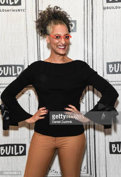 Chef Carla Hall attends the Build Brunch at Build Studio on October 24 2018 in New York City