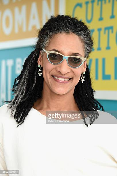 Chef Carla Hall attends the KitchenAid Culinary Demonstrations during the 2015 Food Network Cooking Channel South Beach Wine Food Festival presented...