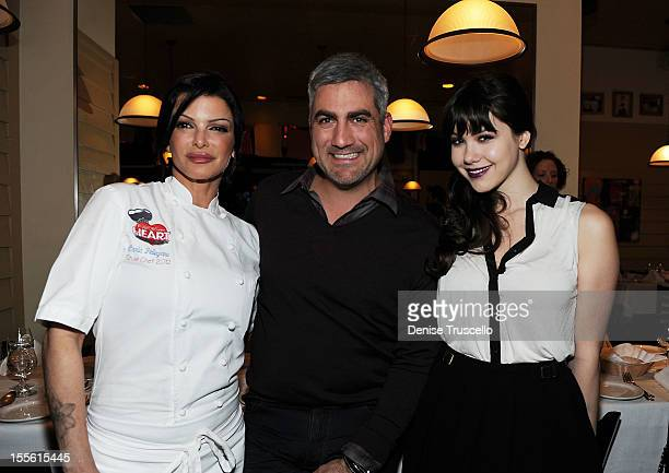 Chef Carla Pellegrino Taylor Hicks and Claire Sinclair attend a wine pairing dinner benefiting Henderson Boys and Girls Club at Bratalian Restaurant...