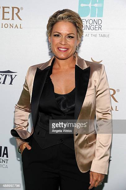 Chef Cat Cora attends Heifer International's 4th Annual Beyond Hunger Gala at the Montage on September 18 2015 in Beverly Hills California Heifer...
