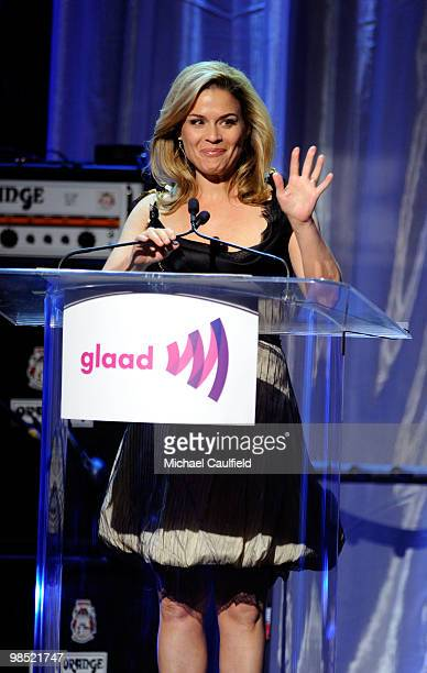 Chef Cat Cora onstage at the 21st Annual GLAAD Media Awards held at Hyatt Regency Century Plaza Hotel on April 17 2010 in Los Angeles California