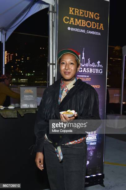 Chef Chakriya Un of Kreung Cambodia attends The Food Network & Cooking Channel New York City Wine & Food Festival Presented By Coca-Cola -...