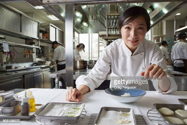 Chef Chen Lansu at work in the kitchen at her restaurant Le Mout Chef Chen was listed as Asia's best female chef in 2014 and her restaurant is...