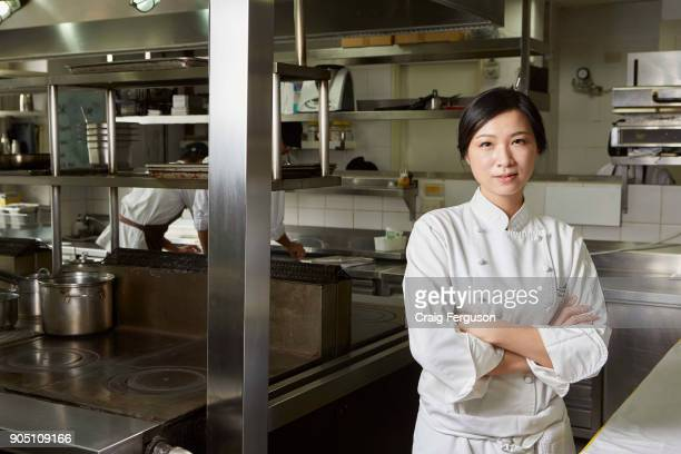 Chef Chen Lansu in the kitchen at her restaurant Le Mout Chef Chen was listed as Asia's best female chef in 2014 and her restaurant is repeatedly...