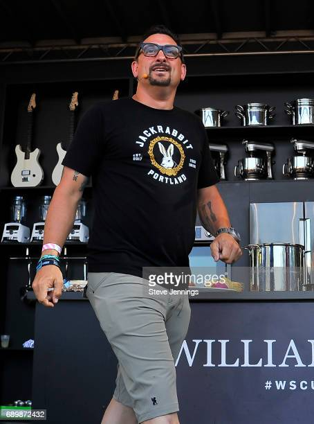 Chef Chris Cosentino attends the William Sonoma Culinary Stage on Day 3 of BottleRock Napa Valley 2017 on May 28 2017 in Napa California