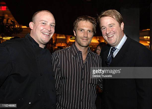 Chef Chris Massie Michael Vartan and Oliver Wharton