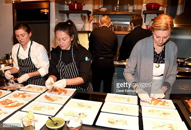 Chef Christina Tos i at The Glenlivet Burns' Night Supper at New York City's The Kitchen Table on January 14 2016 in New York City