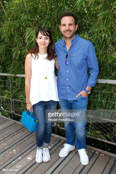 Chef Christophe Michalak and his wife Delphine attend the 2017 French Tennis Open - Day Twelve at Roland Garros on June 8, 2017 in Paris, France.