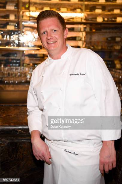Chef Christopher Engel attends a Dinner with Charlie Palmer Matt Lambert and Dan Kluger part of the Bank of America Dinner Series presented by The...