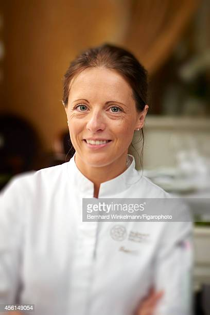 Chef Claire Heitzler is photographed for Madame Figaro on July 10 2014 in Paris France PUBLISHED IMAGE CREDIT MUST READ Bernhard...