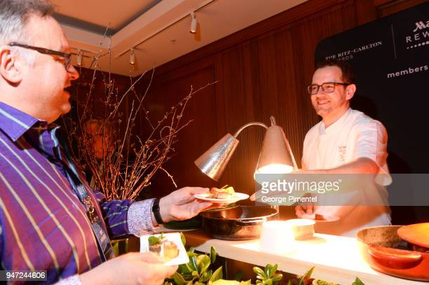 Chef Corbin Tomaszeski Westin Harbour Castle attends the celebration of Marriott International's announcement of their Unified Loyalty Program on...