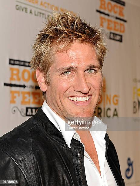 Chef Curtis Stone arrives at the Rock A Little Feed Alot benefit concert held at Club Nokia on September 29 2009 in Los Angeles California