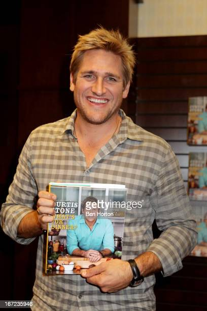 """Chef Curtis Stone presents his book """"What's for Dinner?"""" at Barnes & Noble bookstore at The Grove on April 22, 2013 in Los Angeles, California."""