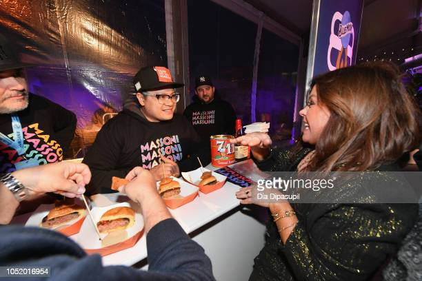 Chef Dale Tallday and Racheal Ray attend Food Network Cooking Channel New York City Wine Food Festival presented by Capital One Blue Moon Burger Bash...
