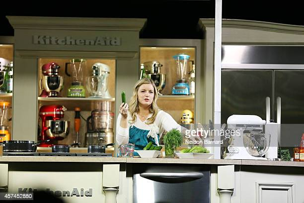 Chef Damaris Phillips gives a cooking demonstration at the Grand Tasting presented by ShopRite featuring KitchenAid® culinary demonstrations...