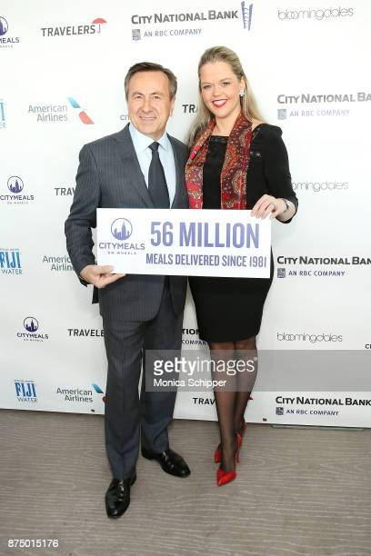 Chef Daniel Boulud and Katherine Gage attend the 31st Annual Citymeals On Wheels Power Lunch For Women at The Rainbow Room on November 16 2017 in New...