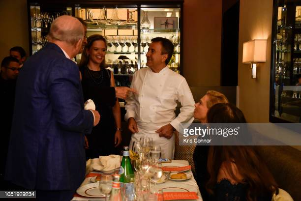 Chef Daniel Boulud and wife Katherine Gage attend the Food Network Cooking Channel New York City Wine Food Festival Presented By Capital One Cafe...