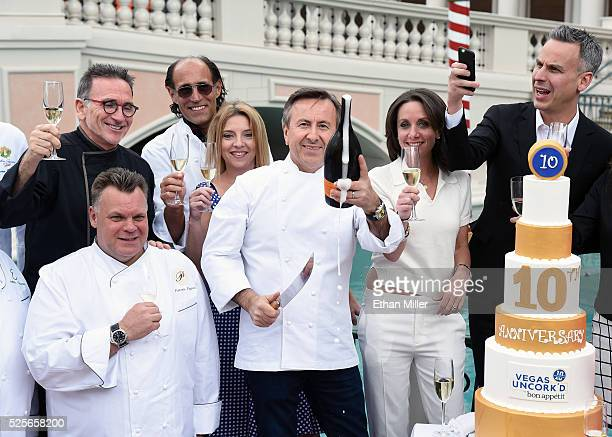 Chef Daniel Boulud marks the beginning of the 10th annual Vegas Uncork'd by Bon Appetit culinary festival presented by Chase Sapphire Preferred...