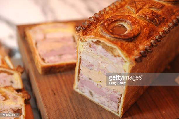 Chef Daniel Boulud's Pate en Croute is offered as Bon Appetit And GQ Celebrate The Education Of A Foodie With Daniel Boulud at One World Trade Center...
