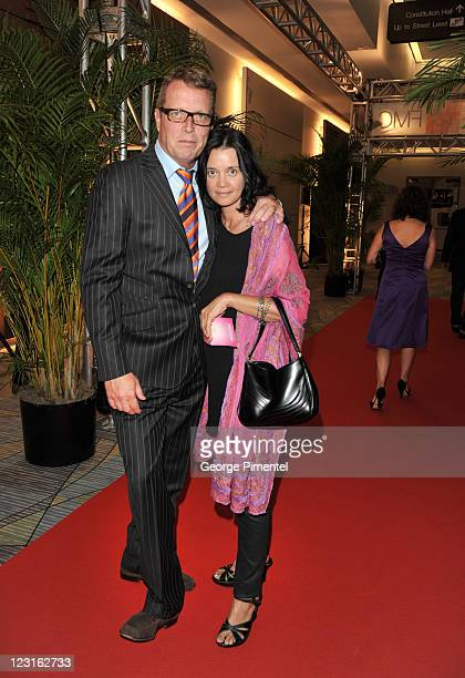 Chef David Adjey and guest attend the 26th Annual Gemini Awards - Industry Gala at the Metro Toronto Convention Centre on August 31, 2011 in Toronto,...