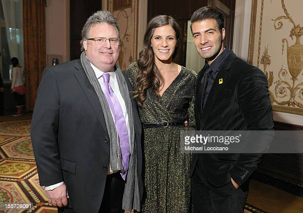 Chef David Burke Eden Grinshpan and Jencarlos Canela attend the Annual Freedom Award benefit hosted by the International Rescue Committee at The...