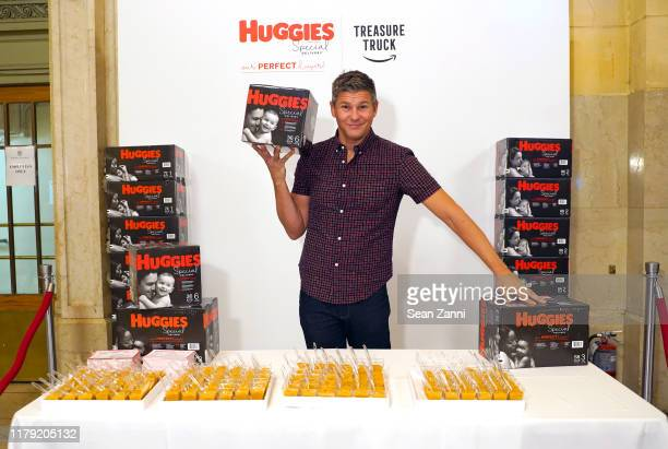 Chef David Burtka appears in New York's Grand Central Station during Huggies Special Delivery event with Amazon's Treasure Truck on October 05 2019...