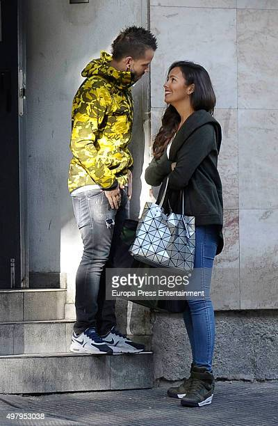 Chef David Munoz and his girlfriend Cristina Pedroche are seen on September 17 2015 in Madrid Spain