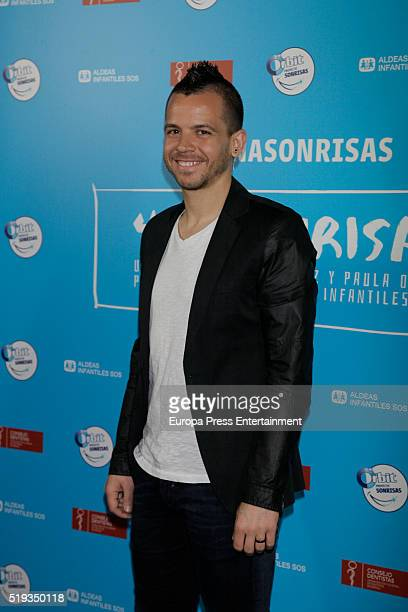 Chef David Munoz attends the presentation of 'Proyecto Sonrisas' by the chef of Diverxo David Munoz and filmmaker Paula Ortiz for Aldeas Infantiles...
