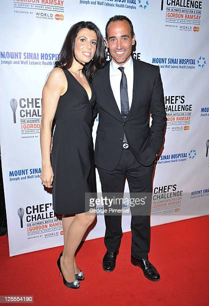 Chef David Rocco and Nina Rocco attend The Inaugural Chef's Challenge The Ultimate Battle For A Cure at The Carlu on November 20 2010 in Toronto...