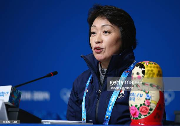 Chef de Mission for Japan Seiko Hashimoto is seen during a press conference prior to the Sochi 2014 Winter Olympics, at the Main Press Centre on...