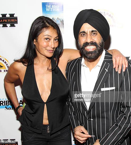 Chef Diane DiMeo and designer Mac Duggal attend the 2015 MacAfrica's Tribeca Soiree on April 16 2015 in New York City