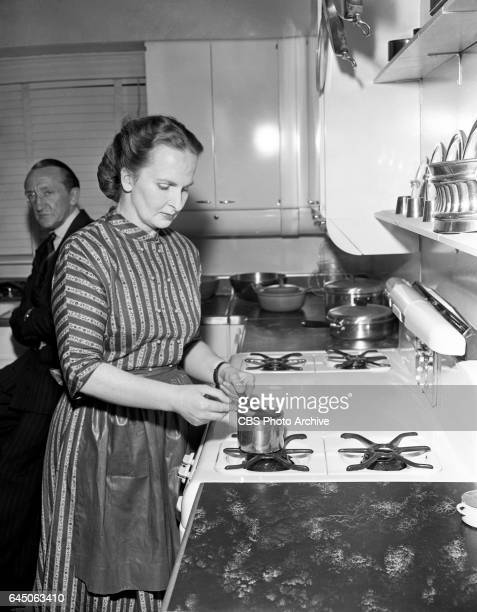 Chef Dione Lucas hosts the CBS cooking show 'To the Queens Taste' in New York City Image Dated September 10 1948 New York NY