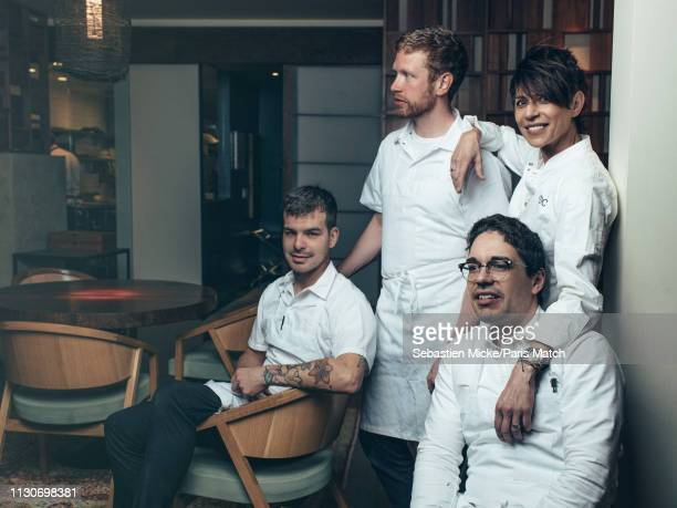 SAN FRANCISCO CALIFORNIA USA JANUARY 11 Chef Dominique Crenn is photographed for Paris Match in her restaurant the Bar Crenn with her team executive...