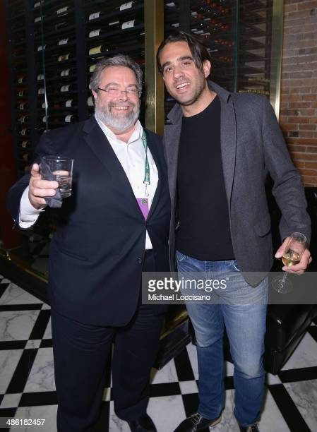 Chef Drew Nieporent and actor Bobby Cannavale attend the 'Chef' Premiere after party during the 2014 Tribeca Film Festival at American Cut on April...