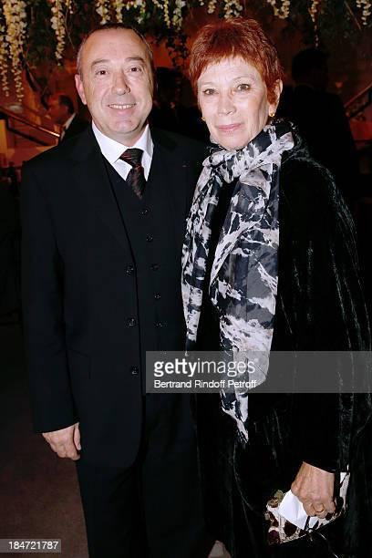 Chef du Coeur Patrick Marie Aubert and Dance Director of the 'Opera de Paris' Brigitte Lefevre attend AROP Gala at Opera Bastille with a...
